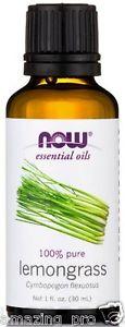 Lemongrass Oil, NOW Essential Oils 100% Pure, 1 fl. oz (30 ml) Aromatherapy