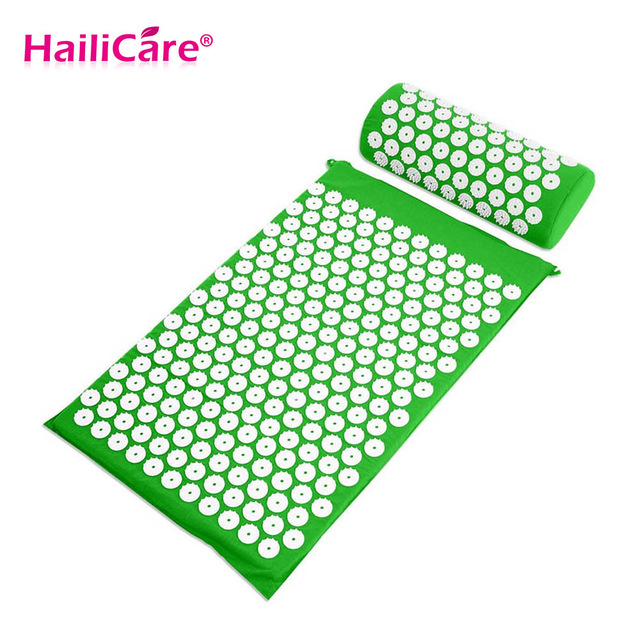 Acupressure Spike Yoga Pillow Mat Relieve Stress Pain Relief Health Care Shakti Massager Relaxation Neck Back Pain Treatment