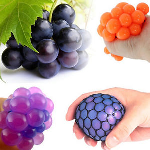 Anti Stress Face Reliever Grape Ball Autism Mood Squeeze Relief ADHD Toy Hot